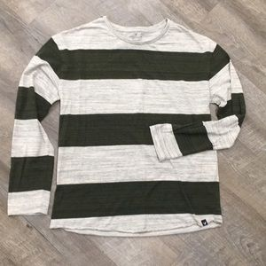 American Eagle long sleeve cotton striped shirt